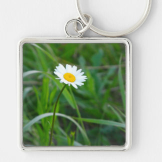 Single daisy keychain