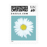 Single Daisy on Blue - Small Floral Postage