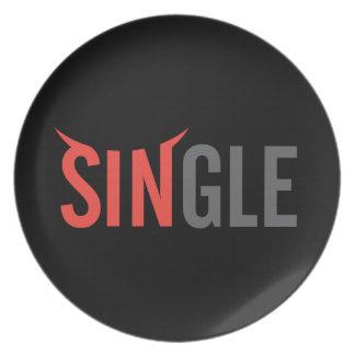 Single Dark 2 Plate