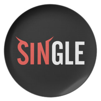 Single Dark Dinner Plate