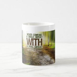 Single Defeat inspirational mug