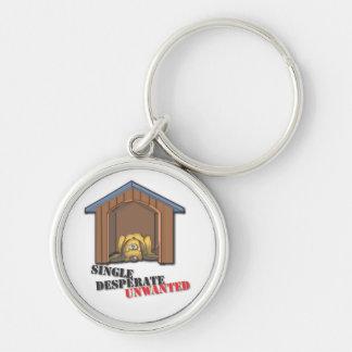 Single Desperate Unwanted Keychain