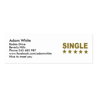 Single Double-Sided Mini Business Cards (Pack Of 20)