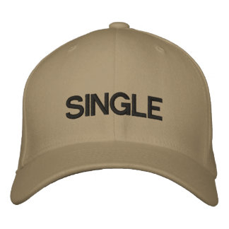 SINGLE EMBROIDERED BASEBALL CAP