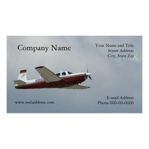 Single Engine Plane Business Card