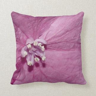Single floret of a Hydrangea Throw Pillow