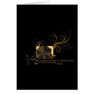 Single Flower Buddha Card