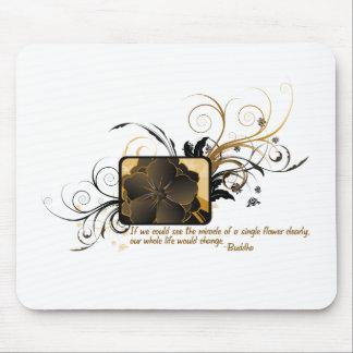 Single Flower Buddha Mouse Pad