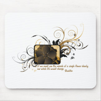 Single Flower Buddha Mouse Pads
