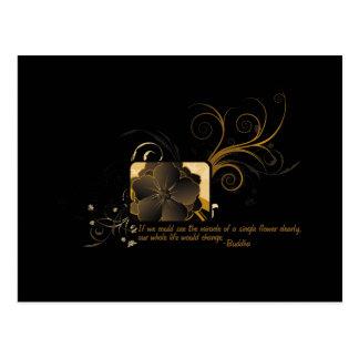 Single Flower Buddha Post Cards