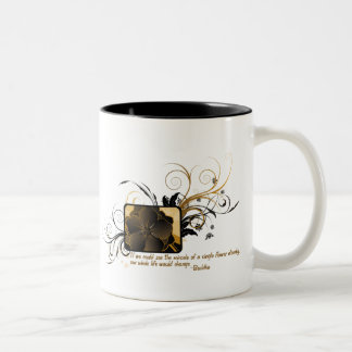 Single Flower Buddha Two-Tone Coffee Mug