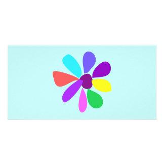 Single Flower Photo Card
