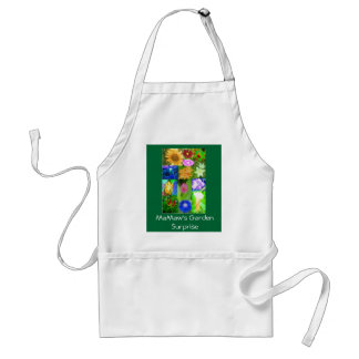 Single Flower Surprise in Mamaw's Garden. Adult Apron