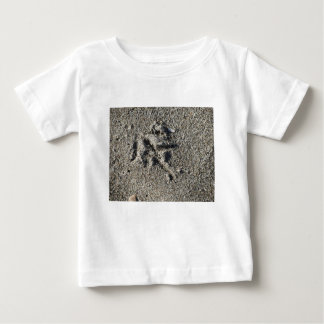Single footprint of seagull bird on beach sand baby T-Shirt