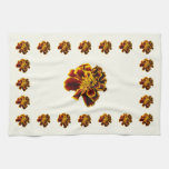 Single French Marigold Hand Towels