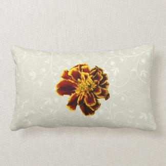 Single French Marigold Throw Pillow