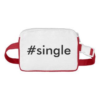 #Single Funny Hashtag Typography Text Waist Bag