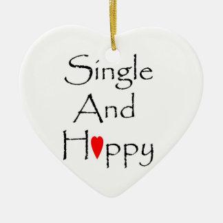 Single & Happy Heart Ornament