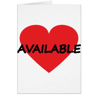 single heart available card