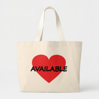 single heart available large tote bag