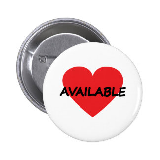single heart available pinback button