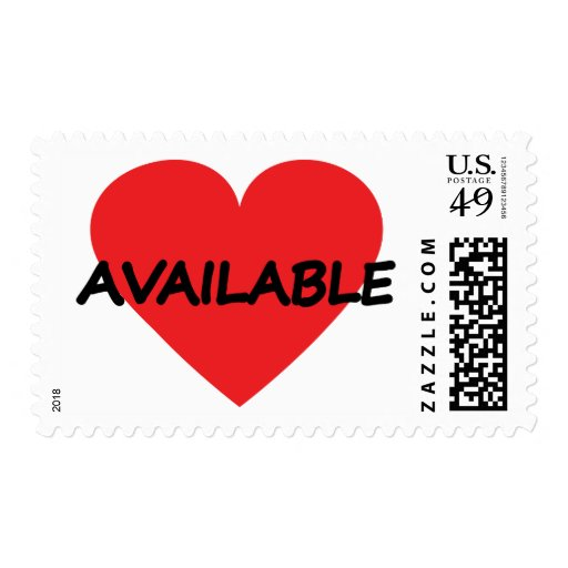 single heart available postage stamps