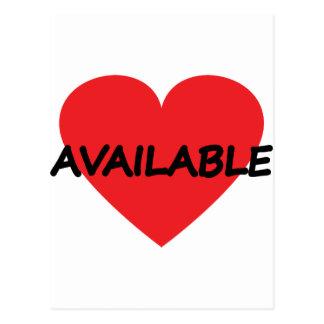 single heart available postcard