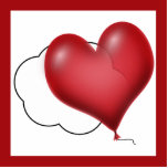 Single Heart Balloon Flying Solo Cut Out
