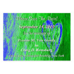 Single Heart Save The Date In Light Green Business Cards