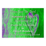 Single Heart Save The Date In Light Green Business Card Templates