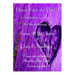 Single Heart Save The Date In Purple Business Card Templates