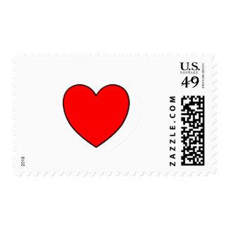 Single Heart Stamp