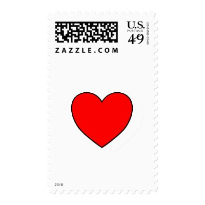Single Heart Stamps
