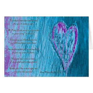 Single Heart Will You Be My Bridesmaid Blue Greeting Cards