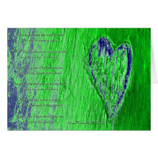Single Heart Will You Be My Bridesmaid In Green Greeting Card