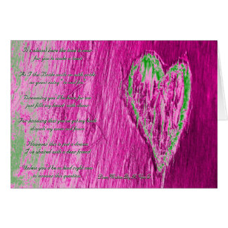 Single Heart Will You Be My Bridesmaid In Pink Greeting Card