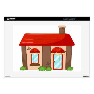"""Single house 15"""" laptop decals"""