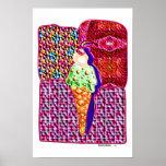 single ice cream cone 1 posters