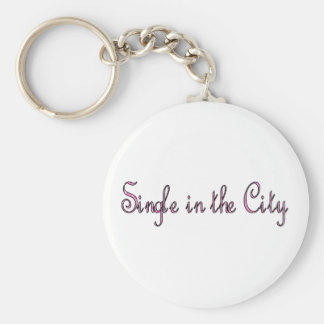 Single in the City Basic Round Button Keychain