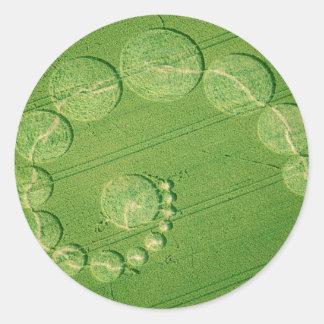 Single Julia Crop Circle Classic Round Sticker