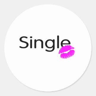 Single (Kiss) Classic Round Sticker