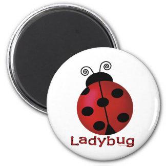 Single Ladybug 2 Inch Round Magnet