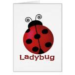 Single Ladybug Card