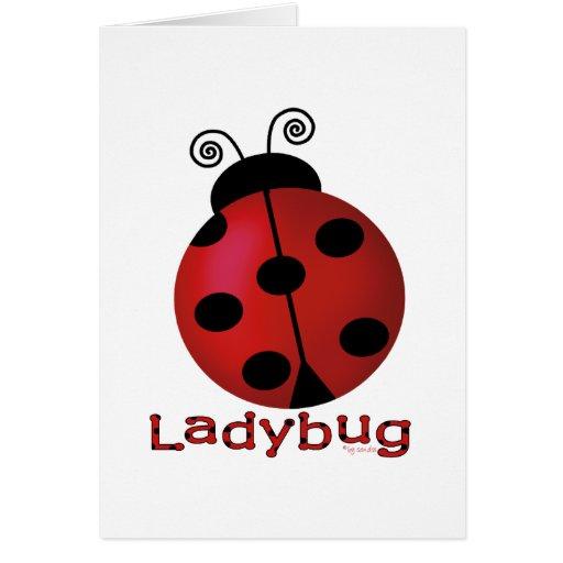 Single Ladybug Cards