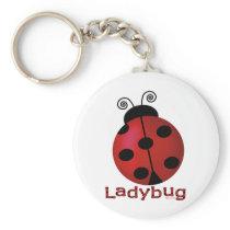 Single Ladybug Keychain