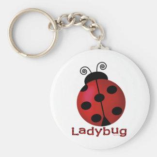 Single Ladybug Keychains
