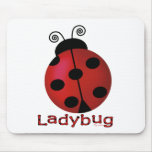 Single Ladybug Mouse Pad