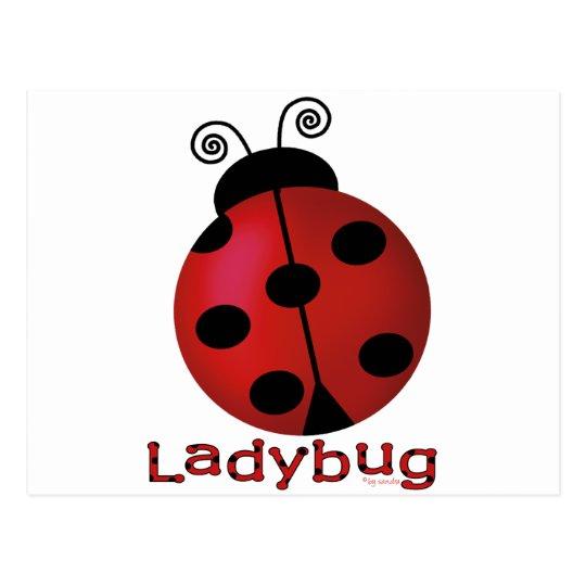 Single Ladybug Postcard