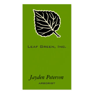 Single Leaf [arborist, plants, plantcare] Business Card