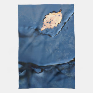 Single Leaf in Autumn Waterfall Towel